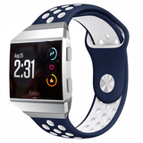 NO1seller Top Soft Silicone Sport Fitbit Ionic Bands(Blue/White)
