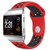 NO1seller Top Soft Silicone Sport Fitbit Ionic Bands(Red/Black)